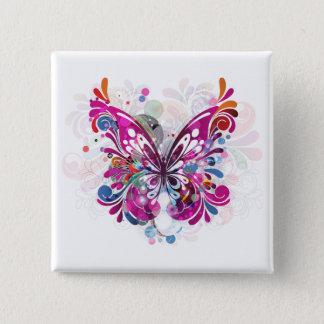 Badge Carré 5 Cm Modèle de personnaliser de papillons de ~ de