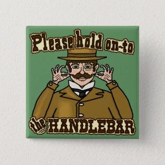 Badge Carré 5 Cm Monsieur de moustache de guidon