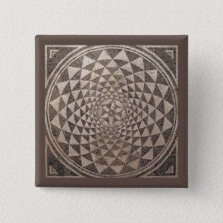 Badge Carré 5 Cm Mosaïque géométrique de Saragosse Salduba