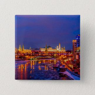 Badge Carré 5 Cm Moscou Kremlin illuminé