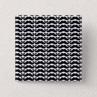Badge Carré 5 Cm Moustache bouclée