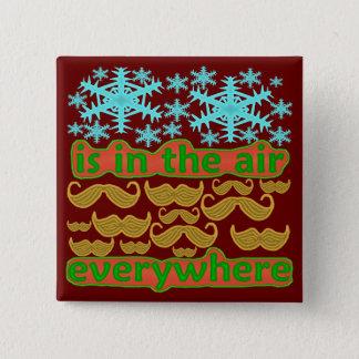 Badge Carré 5 Cm Moustaches partout