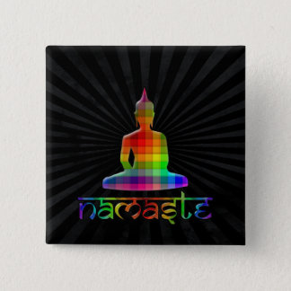 Badge Carré 5 Cm namaste