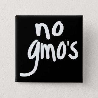 Badge Carré 5 Cm Ne crient aucun GMO protègent notre insigne de
