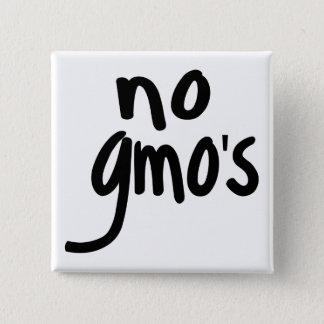 Badge Carré 5 Cm Ne crient aucun GMO protègent notre nourriture