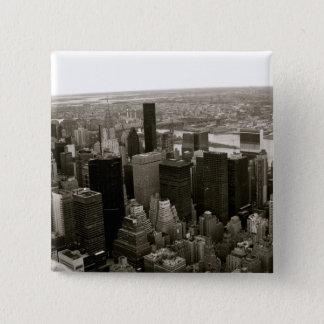Badge Carré 5 Cm New York City de l'Empire State Building