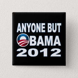 Badge Carré 5 Cm N'importe qui mais Obama 2012