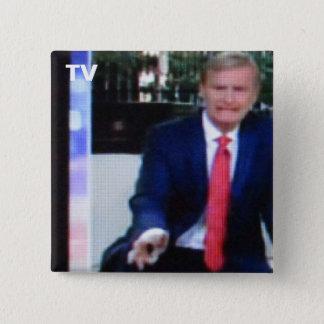 Badge Carré 5 Cm No. 60 de bouton de TV