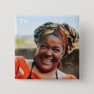 Badge Carré 5 Cm No. 61 de bouton de TV