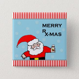 Badge Carré 5 Cm Noël de pharmacien