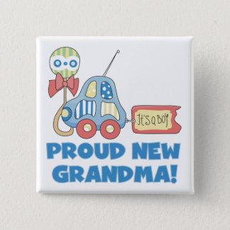 Badge Carré 5 Cm Nouveau fier Grand-maman-il est des T-shirts et