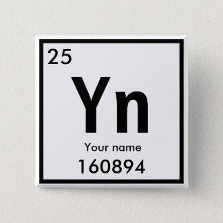 Badge Carré 5 Cm Nouvel élément chimique