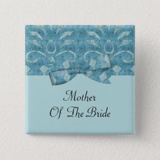 Badge Carré 5 Cm Nuances du mariage bleu de regard de velours