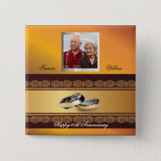 Badge Carré 5 Cm Or fait sur commande d'anniversaire de mariage