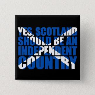 Badge Carré 5 Cm Oui, l'Ecosse devrait être un pays indépendant,