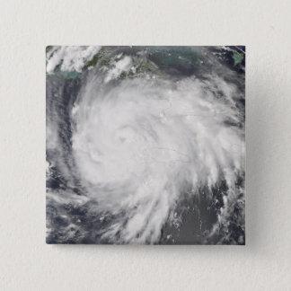 Badge Carré 5 Cm Ouragan Gustav au-dessus de la Jamaïque