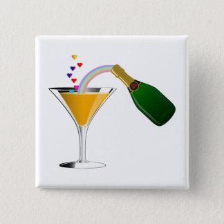 Badge Carré 5 Cm Pain grillé de Champagne