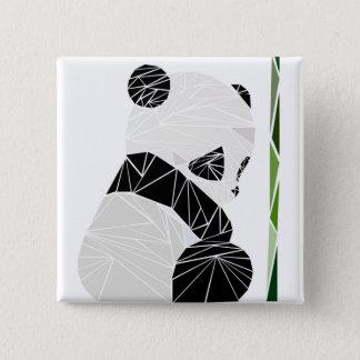 Badge Carré 5 Cm Panda triste géométrique