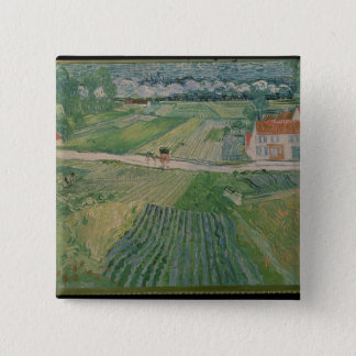 Badge Carré 5 Cm Paysage de Vincent van Gogh   chez Auvers