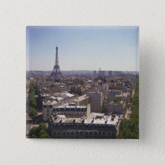 Badge Carré 5 Cm Paysage urbain de Paris, Paris, France