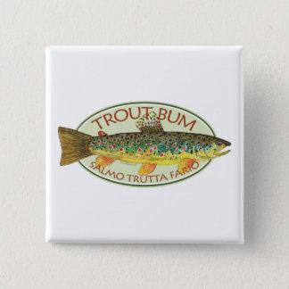 Badge Carré 5 Cm Pêche de mouche de truite