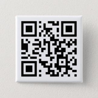 Badge Carré 5 Cm Petit, 1 bouton rond de pouce de ¼