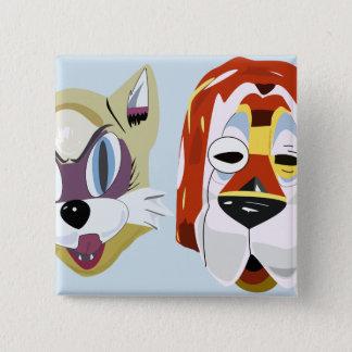 Badge Carré 5 Cm Petit déjeuner aux boutons du masque de Tiffany