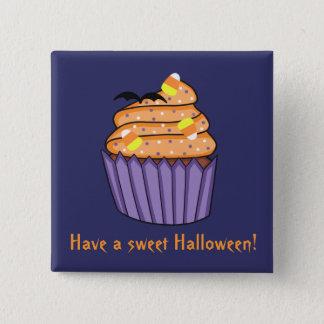 Badge Carré 5 Cm Petit gâteau personnalisable de Halloween