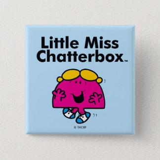 Badge Carré 5 Cm Petite petite Mlle Chatterbox de la Mlle   est si
