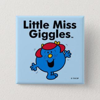 Badge Carré 5 Cm Petite petite Mlle Giggles Likes To Laugh de la