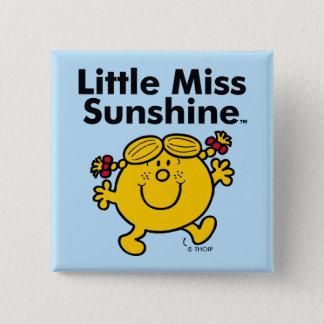 Badge Carré 5 Cm Petite petite Mlle Sunshine de la Mlle   est un