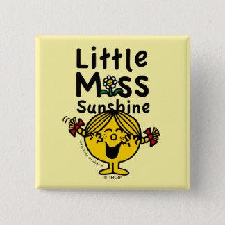 Badge Carré 5 Cm Petite petite Mlle Sunshine Laughs de la Mlle  