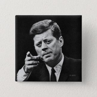 Badge Carré 5 Cm Photographie de John F. Kennedy 3