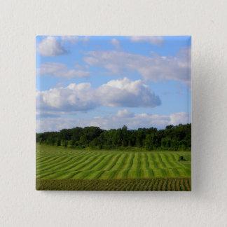 Badge Carré 5 Cm Photographie de jour d'été de ferme du Minnesota