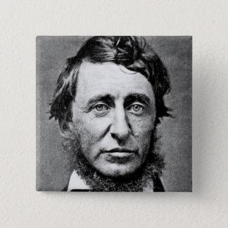 Badge Carré 5 Cm Photographie de portrait de Henry David Thoreau