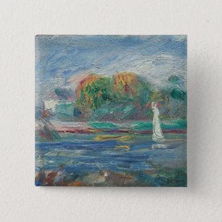 Badge Carré 5 Cm Pierre un Renoir | la rivière bleue