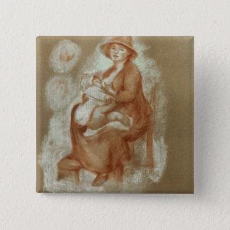 Badge Carré 5 Cm Pierre une maternité de Renoir |
