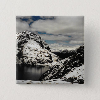 Badge Carré 5 Cm Pin de bouton de paysage de montagne de la