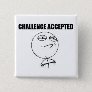Badge Carré 5 Cm Pin de carré admis par défi