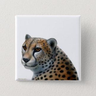 Badge Carré 5 Cm Pin de guépard