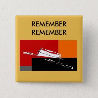 Badge Carré 5 Cm Pin foncé éffrayant de casquette