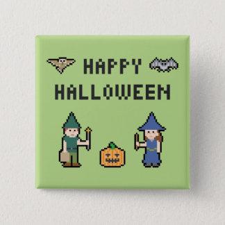 Badge Carré 5 Cm Pixel Halloween