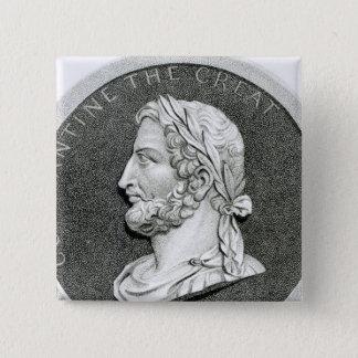 Badge Carré 5 Cm Portrait de Constantine le grand