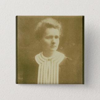 Badge Carré 5 Cm Portrait de Marie Curie