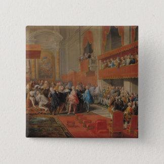 Badge Carré 5 Cm Présentation d'ordre de Saint-Esprit au prince