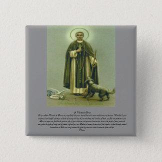 Badge Carré 5 Cm Prière de St Martin