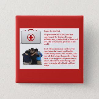 Badge Carré 5 Cm Prière pour le malade