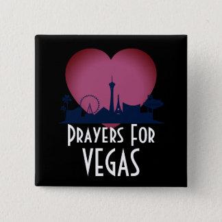 Badge Carré 5 Cm Prières pour Las Vegas