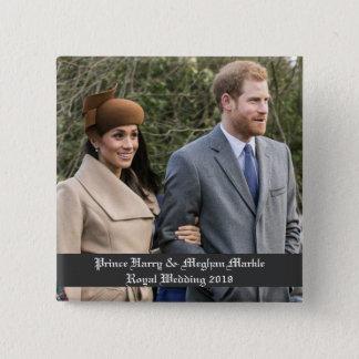 Badge Carré 5 Cm Prince Harry et mariage royal 2018 de Meghan