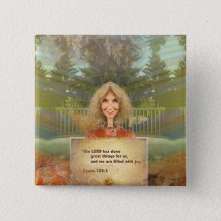 Badge Carré 5 Cm Psaume 126 d'automne de conte de fées rempli avec